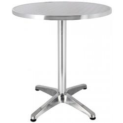 Table Bruxelles aluminium et inox diam 60 cm