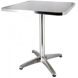 Table Bruxelles aluminium et inox 60x60 cm
