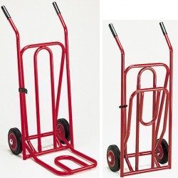Diable pelle rabattable roues dures (charge 300 kg)