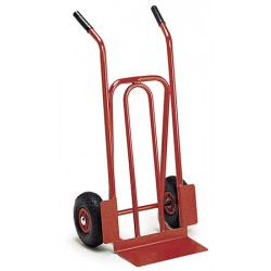 Diable acier pelle fixe roues gonflables (charge 200 kg)