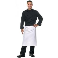 Tablier mi-long 100% coton blanc 80x60 cm