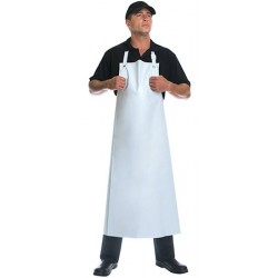 Tablier de boucher long blanc 100x120 cm