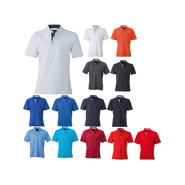 Polo Homme Uni Vichy 100Coton Insert Avec WH2YED9I