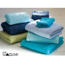 Lot de 3 serviettes de toilette 55x100 cm 100% coton peigné blanc ou couleur 530g