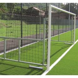 Filets de foot à 8 TPE 3 mm pour buts repliables (la paire)