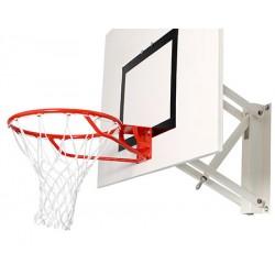 But de basket mural réglable en hauteur
