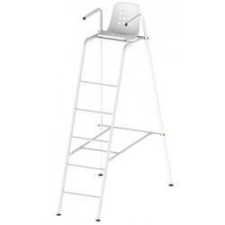 Chaise d'arbitre en acier galvanisé peinte