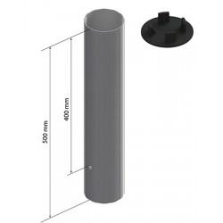 Jeu de 2 fourreaux aluminium pour poteaux Ø 90 mm