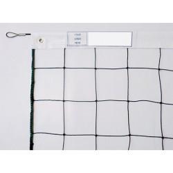Filet de volley 2 mm tension par cable acier galva gainé Ø 5mm