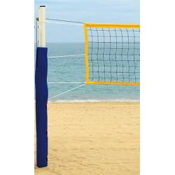 Poteaux de beach tennis en acier galvanisé Ø 90mm avec embases (la paire)