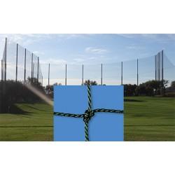 Filet de clôture pour terrain de hand et volley câblé PE 2,5 mm mesh 100 mm (prix au m²)