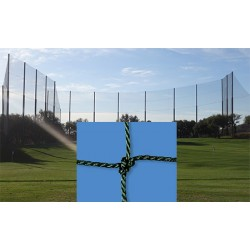 Filet de clôture pour terrain de basket et football câblé PE 2,5 mm mesh 145 mm (prix au m²)