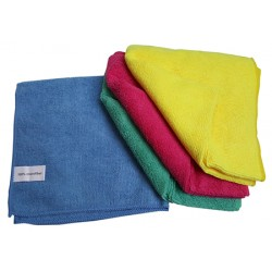 Lavette Microfibre 40 x 40 cm 240 g/m² couleurs assorties (Le lot de 4)