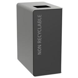 Poubelle de tri sélectif Cube 65 L Tri déchets non recyclables sans serrure