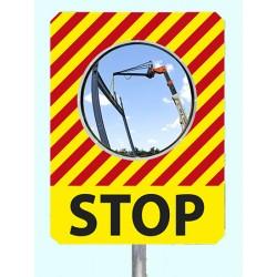 "Miroir de chantier temporaire ""STOP"""