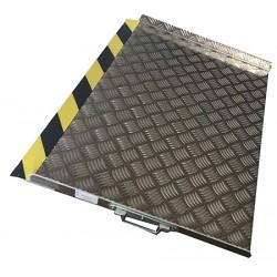 Rampe de seuil aluminium L60 x P75 cm hauteurs de 6 à 12 cm