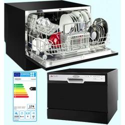 Lave vaisselle compact 6 couverts 49 dB A+ noir