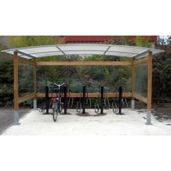 Abri vélos et motos bois Morbihan simple L450 cm