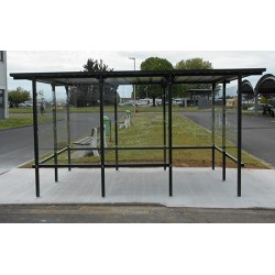 Abri fumeur Libourne grand modèle 405 x 244 cm
