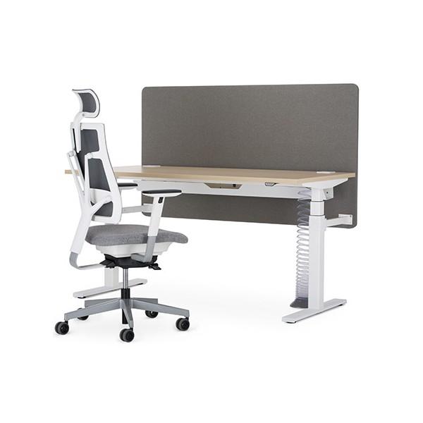 panneau de s paration tapiss pour bureau ergonomie l200 cm. Black Bedroom Furniture Sets. Home Design Ideas