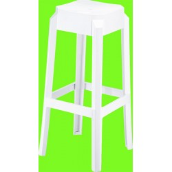 Lot de 2 tabourets de bar Fox blancs