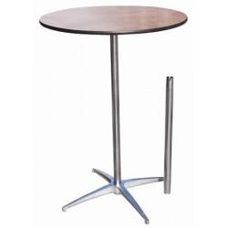 Table ou mange debout plateau bois diam 75 cm