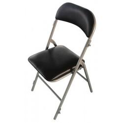 Lot de 6 chaises pliantes et accrochables Mélanie noir M3