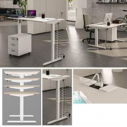 Bureau Confort réglable en hauteur électriquement 120 x 80 cm