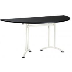 Table de restauration Manon stratifié 1/2 rond 140x70 cm