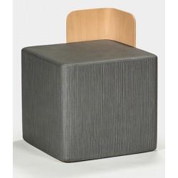 Pouf cubique Farallo tissu 1