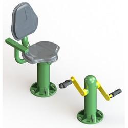 Pédalier avec siège