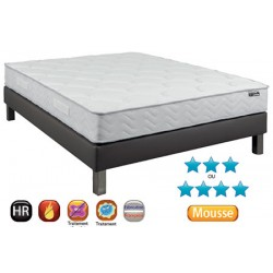 Lot de 10 matelas mousse réversible Cancale 20 cm HR40 140x190 cm