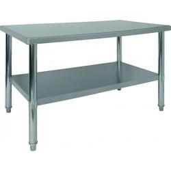Table de travail centrale soudée inox L 120 x P70 cm