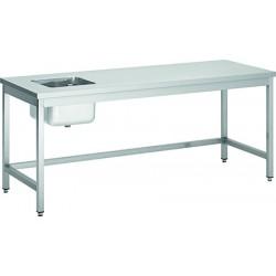 Table de de chef avec évier inox L100xP70 cm