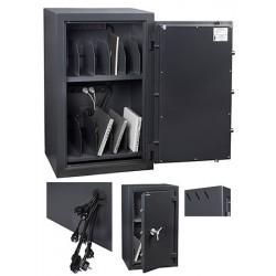 Armoire forte blindée pour 10 ordinateurs serrure à clé A2P