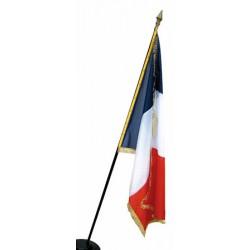 Drapeau de prestige en satin avec franges 97 x 150 cm France