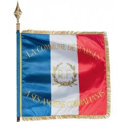 Drapeau d'association satin brillant imprimé personnalisé 97 x 120 cm