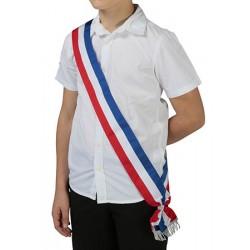 Echarpe tricolore pour jeune élu L160 cm