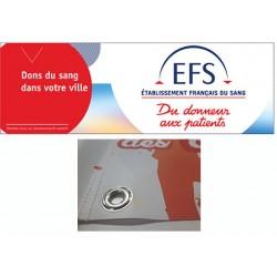 Banderole bâche PVC personnalisée avec œillets H80 x L300 cm