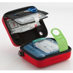 Défibrillateur automatisé HeartStart HS1 avec malette standard et électrodes supplémentaires