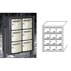 Boîte aux lettres extérieure Fréjus NF anti effraction 12 cases verticales