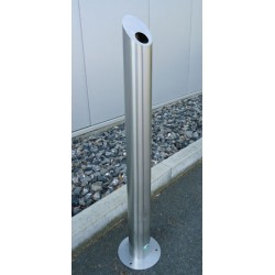 Cendrier colonne sur pied en inox diam 10xH100 cm