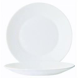 Assiette restaurant unie plate ø235 mm Arcopal blanc (le lot de 6)