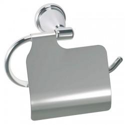 Porte-rouleau papier hygiénique en acier chromé ROSSIGNOL Sanéa