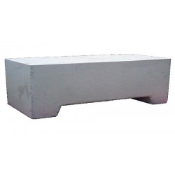 Borne mobile de sécurité en béton gris 115 x 115 x H40 cm