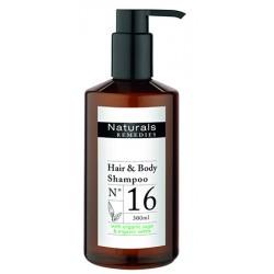 Lot de 12 shampooings corps et cheveux Naturals Remedies en flacon pompe 300 ml
