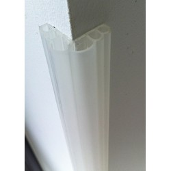 Lot de 50 protections standard de coin de mur H100 x 2,5 x 2,5 cm