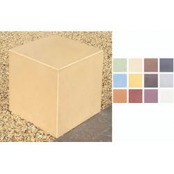 Cube béton fibré performance coloré L40 x P40 x H40 cm