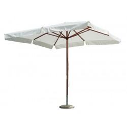 Parasol Carantec bois et polyester 300x200 cm