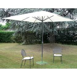 Parasol Camaret acier et polyester 300x300 cm